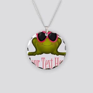 Frog in Pink Sunglasses Custom Necklace