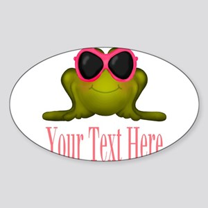 Frog in Pink Sunglasses Custom Sticker