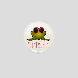 Frog in Pink Sunglasses Custom Mini Button