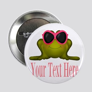 """Frog in Pink Sunglasses Custom 2.25"""" Button"""