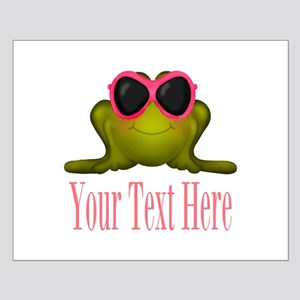 Frog in Pink Sunglasses Custom Posters