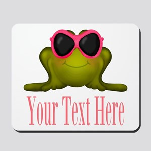 Frog in Pink Sunglasses Custom Mousepad