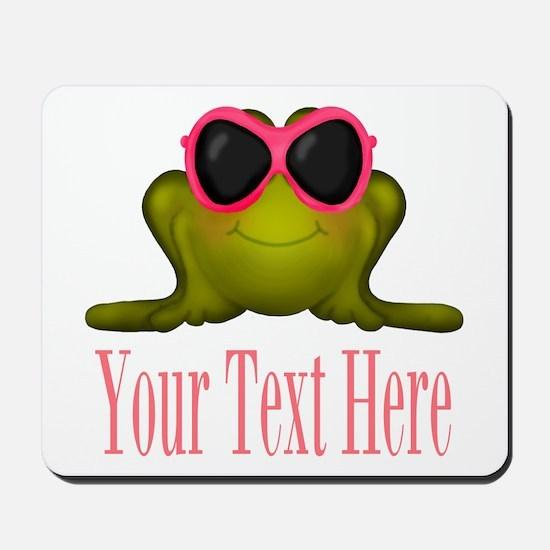 Frog in Pink Sunglasses Custom Mousepad