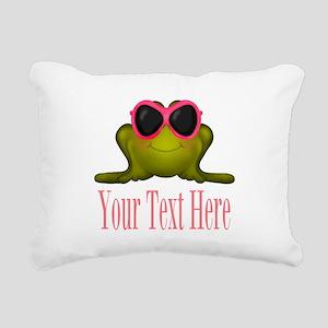 Frog in Pink Sunglasses Custom Rectangular Canvas