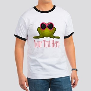Frog in Pink Sunglasses Custom T-Shirt