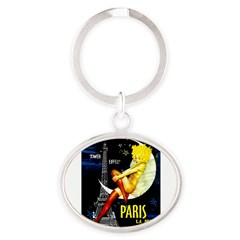 Paris La Nuit Ville des Folies Keychains