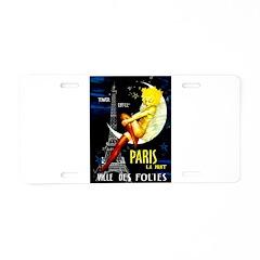 Paris La Nuit Ville des Folies Aluminum License Pl