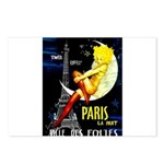 Paris La Nuit Ville des Folies Postcards (Package