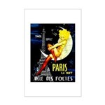 Paris La Nuit Ville des Folies Poster Print
