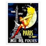 Paris La Nuit Ville des Folies Small Poster