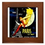 Paris La Nuit Ville des Folies Framed Tile