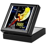 Paris La Nuit Ville des Folies Keepsake Box