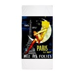 Paris La Nuit Ville des Folies Beach Towel