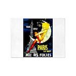 Paris La Nuit Ville des Folies 5'x7'Area Rug