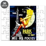 Paris La Nuit Ville des Folies Puzzle