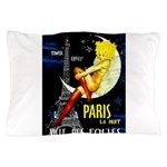 Paris La Nuit Ville des Folies Pillow Case
