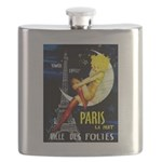 Paris La Nuit Ville des Folies Flask