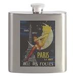 Paris La Nuit Ville des Folies Flask