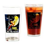 Paris La Nuit Ville des Folies Drinking Glass