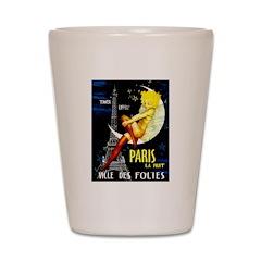 Paris La Nuit Ville des Folies Shot Glass