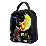 Paris La Nuit Ville des Folies Neoprene Lunch Bag