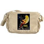 Paris La Nuit Ville des Folies Messenger Bag