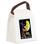 Paris La Nuit Ville des Folies Canvas Lunch Bag