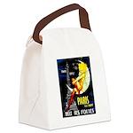 Paris La Nuit Ville des Folies Canvas Lunch Bag