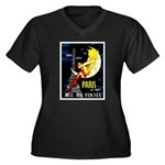 Paris La Nuit Ville des Folies Plus Size T-Shirt
