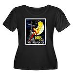 Paris La Nuit Ville des Folies Plus Size T-Shirt