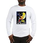 Paris La Nuit Ville des Folies Long Sleeve T-Shirt