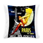 Paris La Nuit Ville des Folies Everyday Pillow