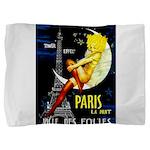 Paris La Nuit Ville des Folies Pillow Sham