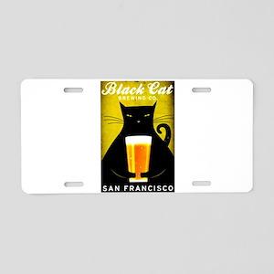Black Cat Brewing Co. Aluminum License Plate