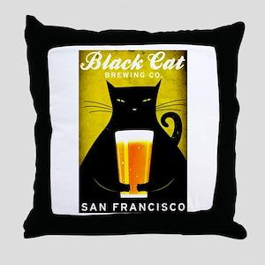Black Cat Brewing Co. Throw Pillow