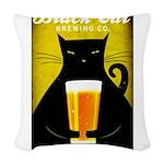 Black Cat Brewing Co. Woven Throw Pillow