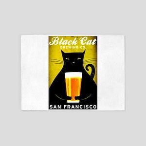 Black Cat Brewing Co. 5'x7'Area Rug