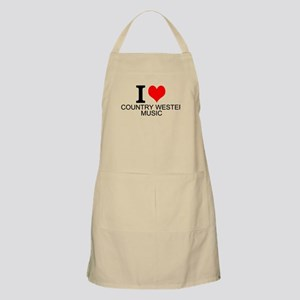 I Love Country Western Music Apron