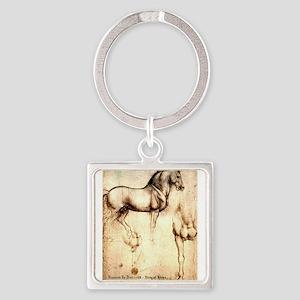 Leonardo da Vinci Study of Horses Keychains
