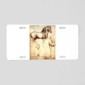 Leonardo da Vinci Study of Horses Aluminum License