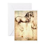 Leonardo da Vinci Study of Horses Greeting Cards