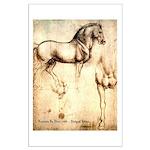 Leonardo da Vinci Study of Horses Poster