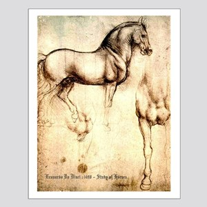 Leonardo da Vinci Study of Horses Small Poster