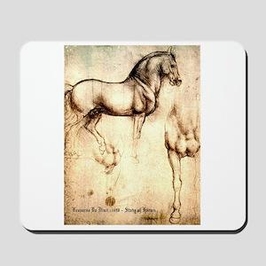 Leonardo da Vinci Study of Horses Mousepad