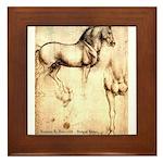 Leonardo da Vinci Study of Horses Framed Tile