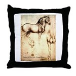 Leonardo da Vinci Study of Horses Throw Pillow
