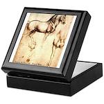 Leonardo da Vinci Study of Horses Keepsake Box