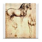 Leonardo da Vinci Study of Horses Tile Coaster