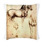 Leonardo da Vinci Study of Horses Woven Throw Pill