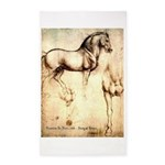 Leonardo da Vinci Study of Horses Area Rug